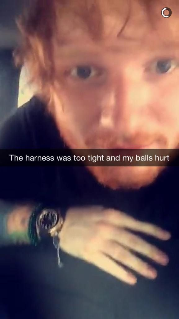 Pin for Later: 80+ Celebrities You Should Be Following on Snapchat Ed Sheeran: teddysdaytoday What he snaps: Selfies with funny quotes and what he eats.