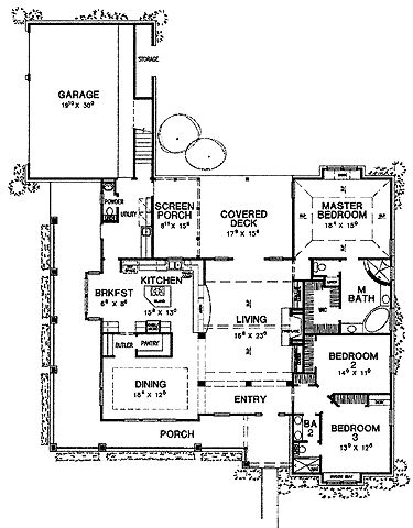floor plan - Patio Style Dream Home Plans