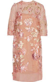 Biyan Ava embellished silk-blend organza dress | THE OUTNET