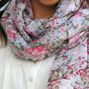 Floral Scarf from Dress - It's easy to put an old item of clothing to a second use. Check out the Floral Scarf from Dress tutorial to make a scarf using any dress you no longer wear. Simple and quick DIY crafts are great projects for people just getting the hang of sewing.This is an easy beginner sewing project that shows you ways to reuse your clothes.