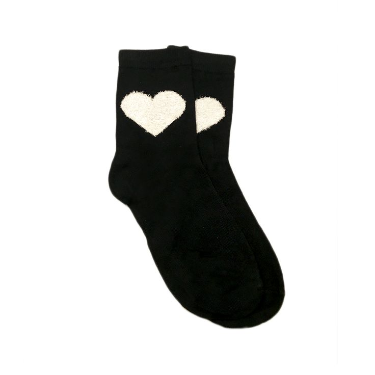 Black material, white mesh heart. Above the ankle, cotton material.