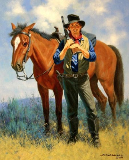 Outlaw America Outlaw Youth Guns Love And Respect: Love This Painting Of Billy The Kid Since Only One Known