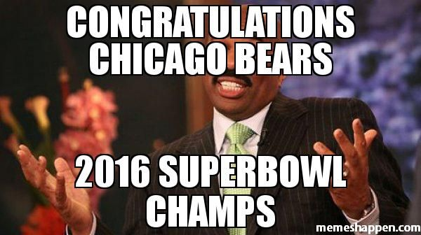 CONGRATULATIONS Chicago bears 2016 Superbowl champs