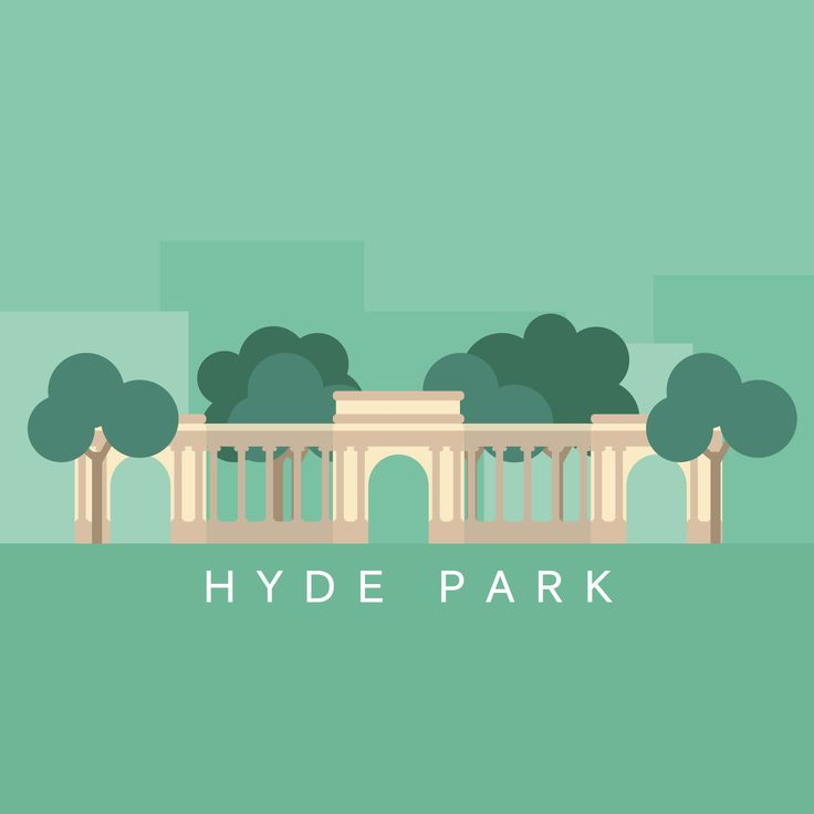 Cities london hyde park illustration by cans cans for Appart city dublin