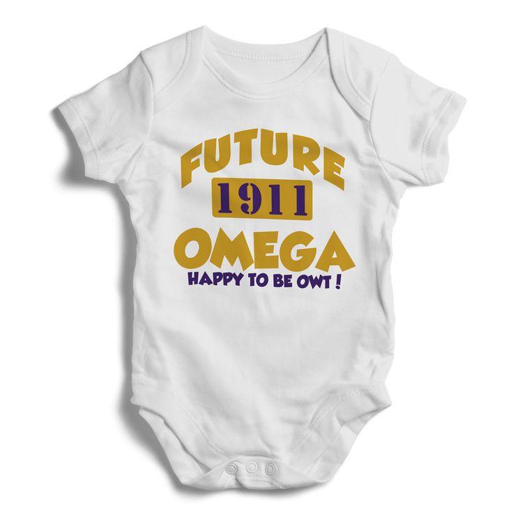 Baby Omega Psi Phi Onesie (White)