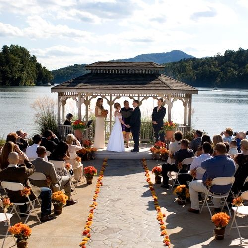 A Beautiful Outdoor Wedding Ceremony At Rumbling Bald