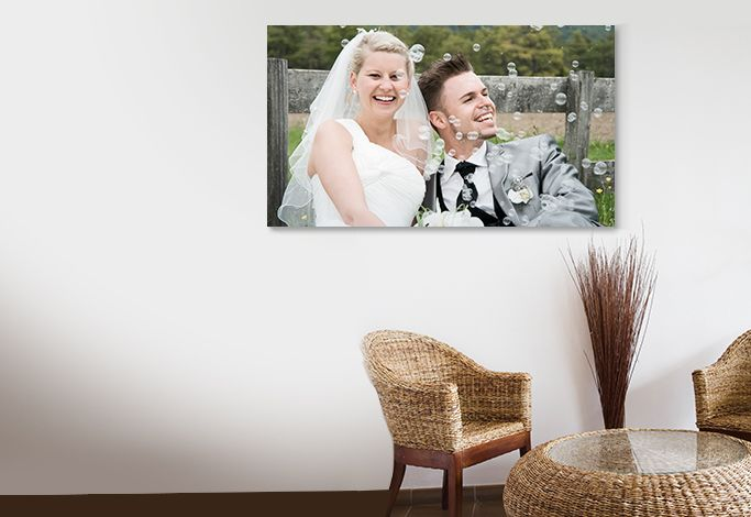 Wedding memory on Canvas