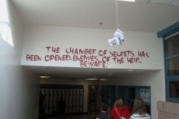 Senior Prank Ideas Chamber Of Secrets Lol Pinterest