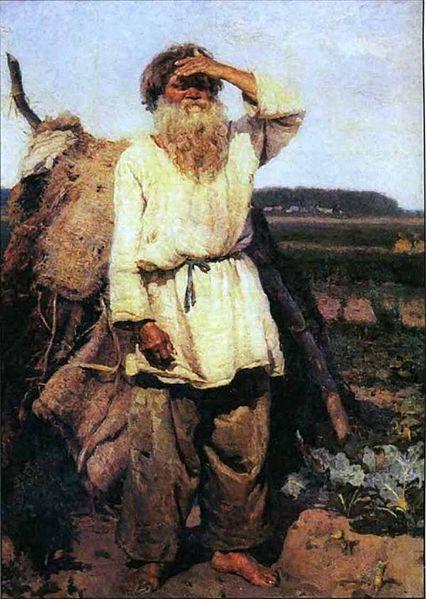 Vasily Surikov, The old gardener.  1882.