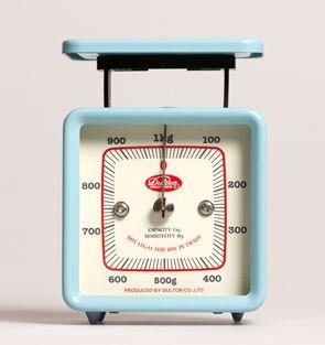 Balanças de Cozinha : Balança Vintage Azul