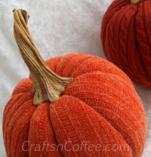 Love these orange sweater pumpkins tutorial on for Pumpkin stems for crafts