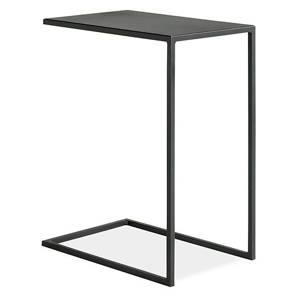 Slim C-Table in Natural Steel - End Tables - Living - Room & Board
