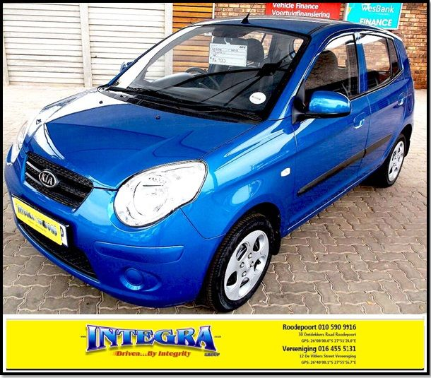 Don`t miss out on this excellent little student vehicle, start the new year in style, 2010 Kia Picanto1.1, mileage 55500km, for more details kindly contact Integra Motors on 010 590 9916