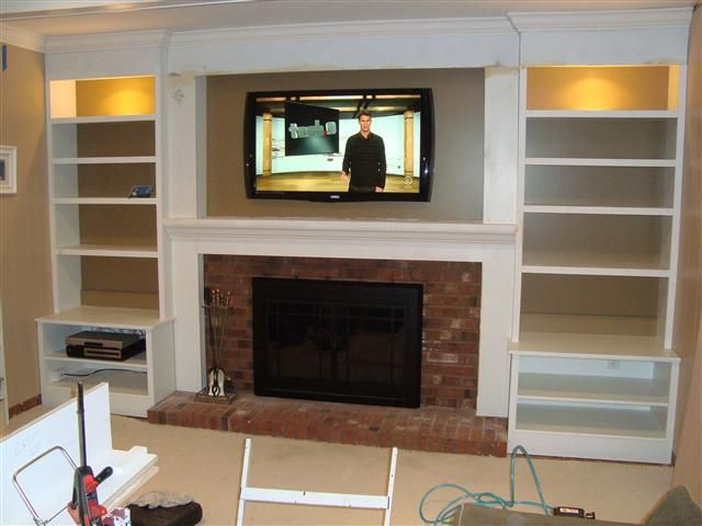 1000 Ideas About Shelves Around Fireplace On Pinterest Family Room Walls Fireplace Built Ins