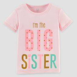 Toddler Girls' Big Sister T-Shirt - Just One You™ Made by Carter's® Pink
