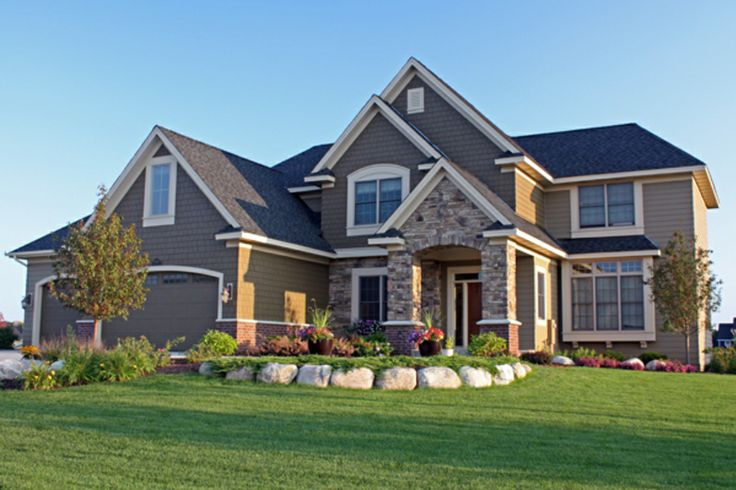 Front Elevation With Granite : Elevation plan front and european house plans