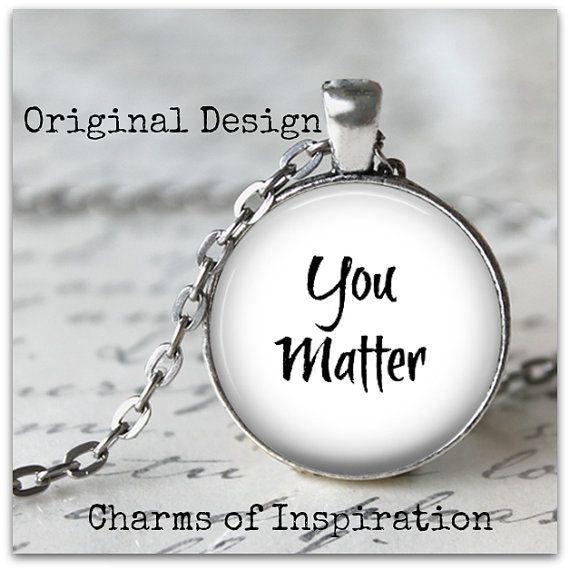 26 best pendantsinspirational images on pinterest drop necklace you matter inspirational necklace inspirational hope jewelry hope necklace recovery gift aloadofball Gallery