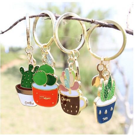Carry your own garden everywhere you go with this cute keychain.