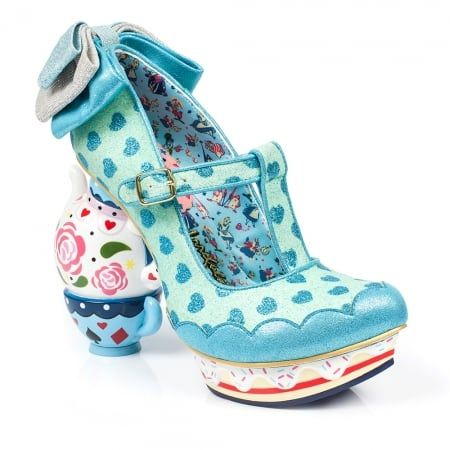 Irregular Choice Alice In Wonderland 2 4296-3B My Cup Of Tea Womens Tea-Pot High Heel Shoes - Blue