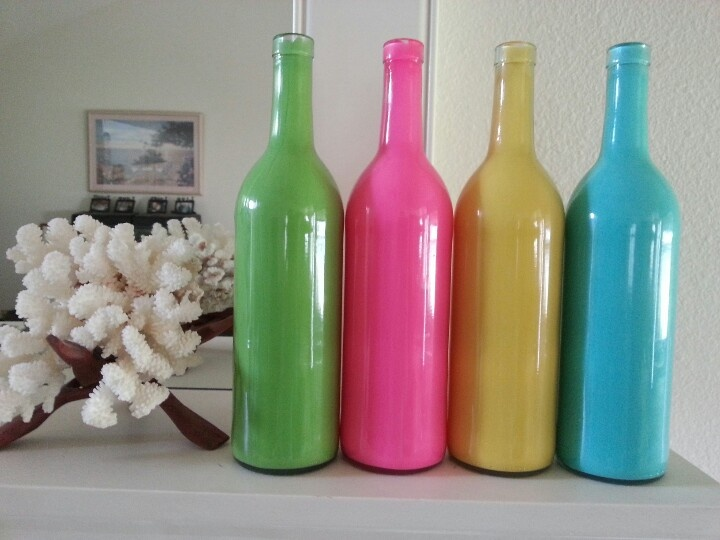 17 best images about colorful wine bottles on pinterest for How to color wine bottles