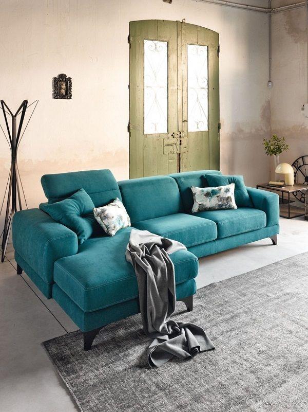 Pentru un decor cald si primitor coltarul Harvey este alegerea ideala. #coltar #catifea #living #texturi #culori #turquoise #bej #decor #SomProduct