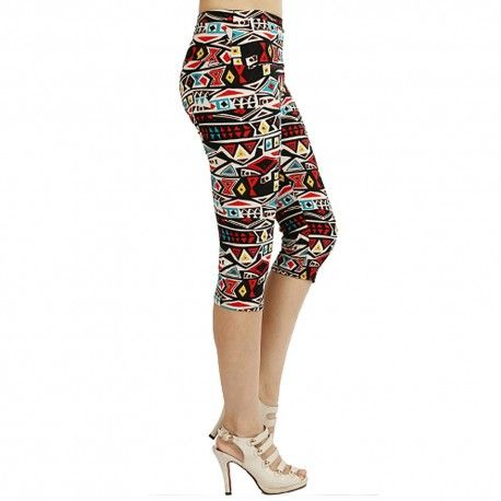 Blocked Up  Capri Leggings  (Regular)
