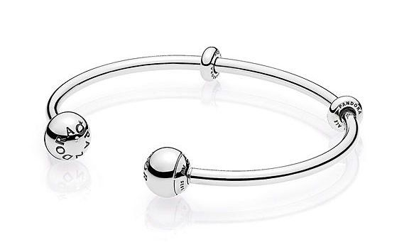 NEW PANDORA Open Bangle Bracelet - style with or without charms!  Free shipping at BeCharming.com