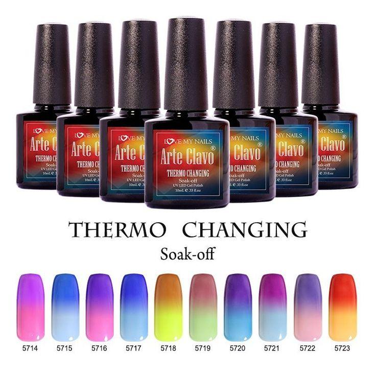 Arte Clavo Soak Off Gel Nail Polish Color Changing Temperature Gel Base Top Coat #ArteClavo
