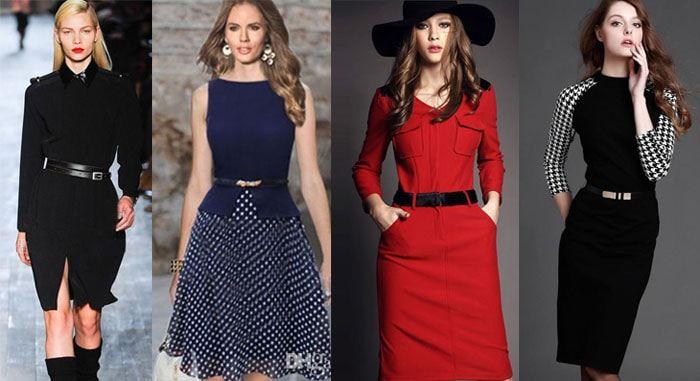 деловая одежда: платья 2016, фото