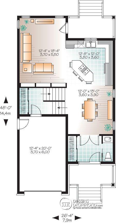 10 best Plan maison images on Pinterest House template, Floor - Plan Architecture Maison 100m2