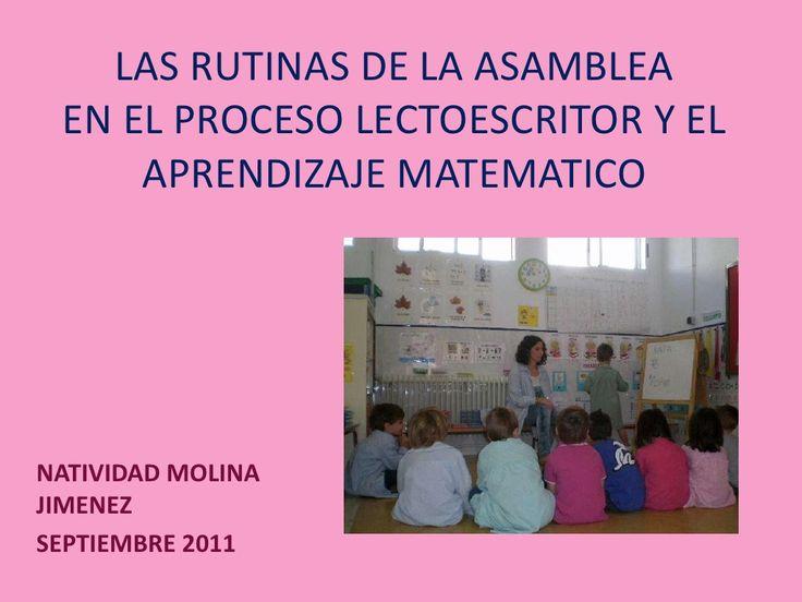 las-rutinas-de-la-asamblea-nati by Natividad Molina via Slideshare