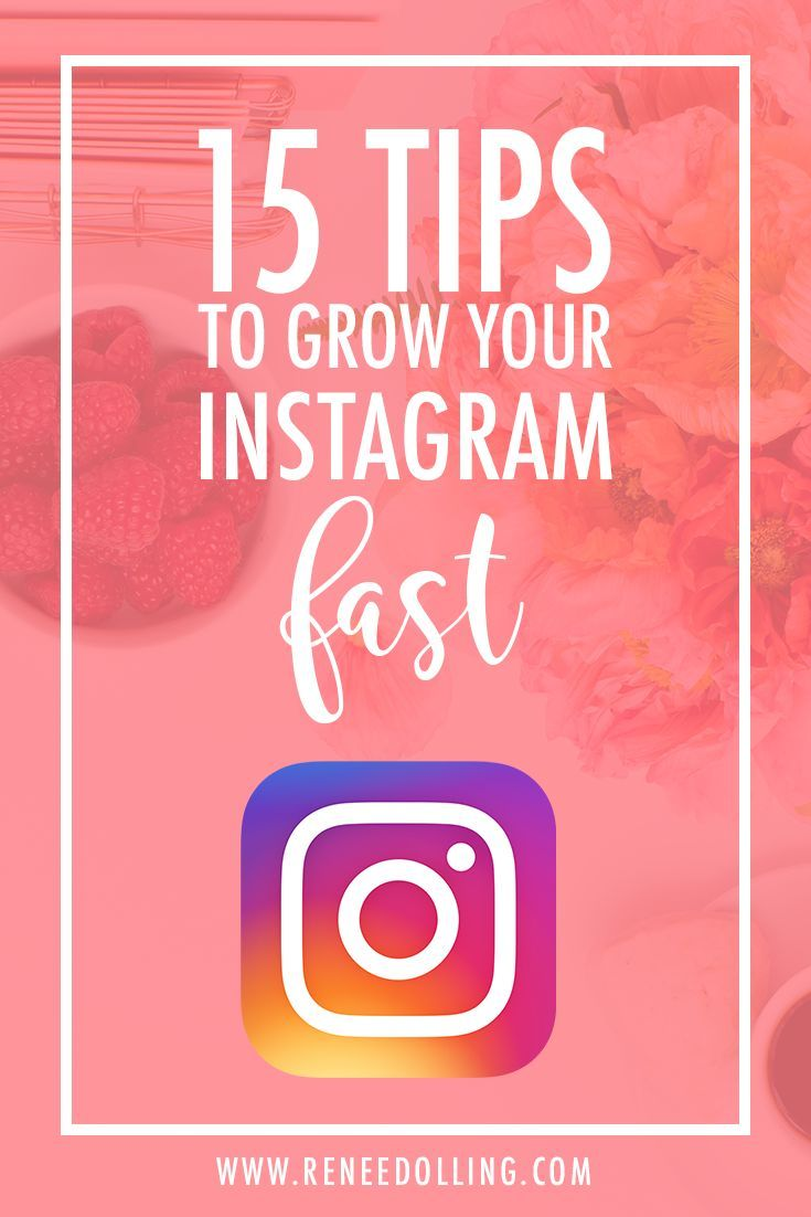 15 Top Tips to Grow Your Instagram Fast | Renée Dolling  #instagram, #grow, #toptips, #growyourfollowing, #growyourinstagram