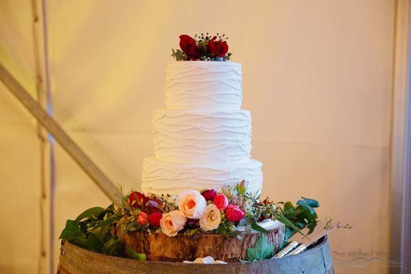 Gorgeous wedding cake by The Cake Girl. Photography by The Arched Window.