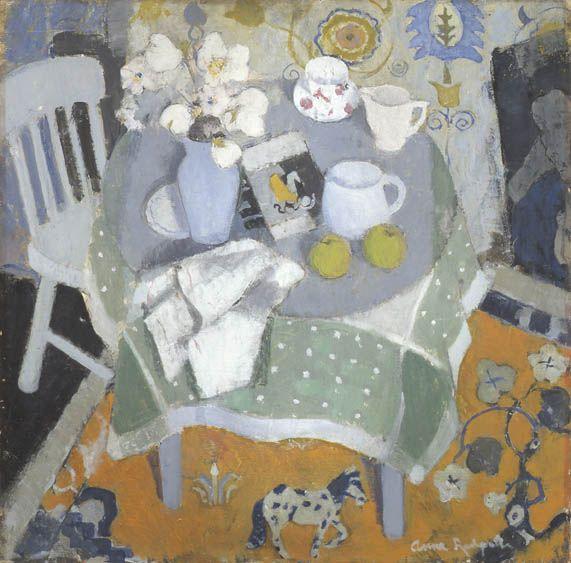 yama-bato:  Anne Redpath (1895 - 1965)The Chinese Rug, c. 1944 http://www.anthonyhepworth.com/