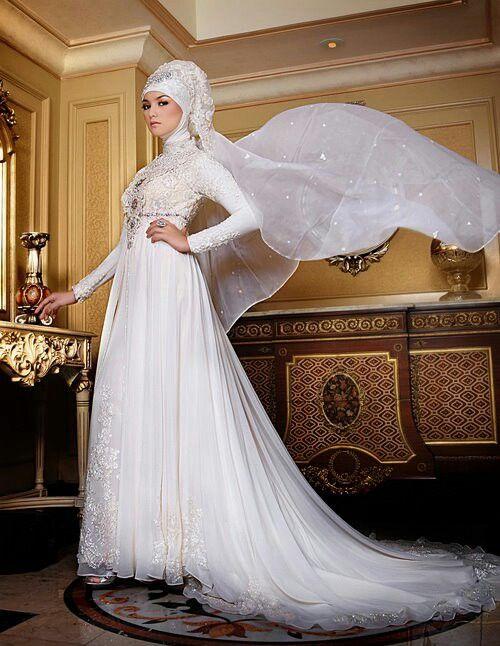 Ancha ady muslim wedding gown