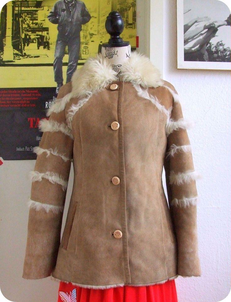 Vintage LICASSO Leder Jacke Leather Jacket Boho Hippie Lamm Fell Shabby Zaren in Kleidung & Accessoires, Damenmode, Jacken & Mäntel | eBay!