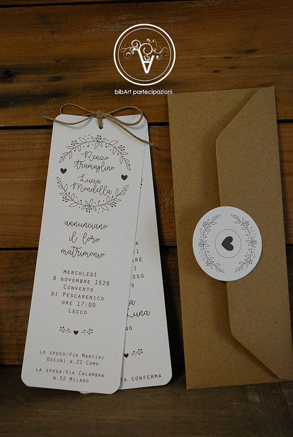 Partecipazione invito nozze matrimonio di Bibart su Etsy