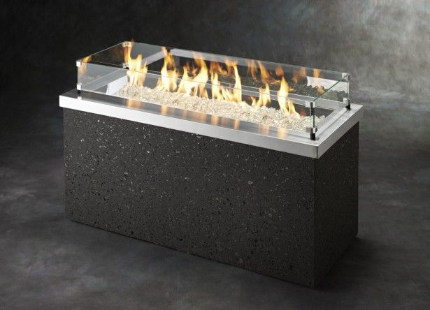 furniture ideas rectangle fire pit table with glass fire pit cover and glass beads installed