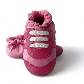 Tenis rosados con suela blanda antideslizante para niña. En tallas 19 a 25. Para aprender a andar y gatear.