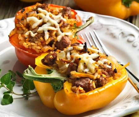 Stuffed Bell Peppers Recipe // House & Home