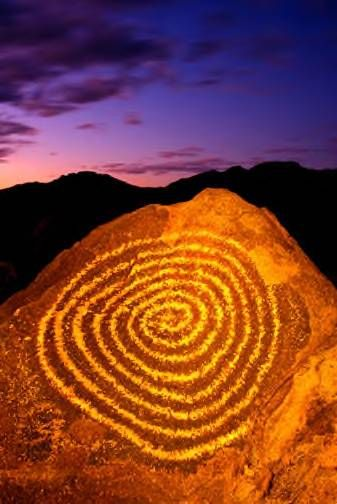 Signal Hill, Chaco Canyon, New Mexico. Looks like a petroglyph-  stargate symbol.  Been there..amazing place: best time of year is Oct to go