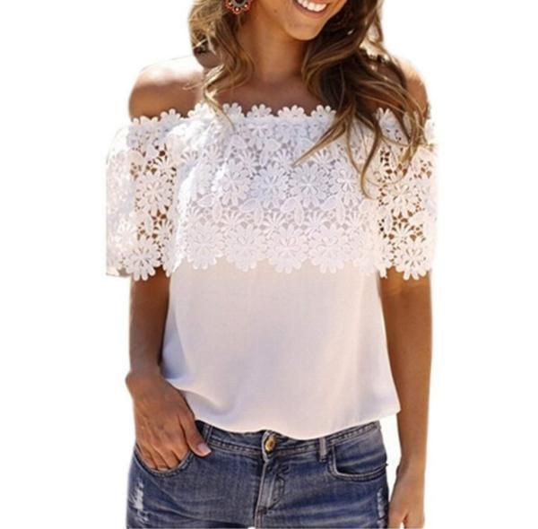 Look what we just got: Womens Trendy Lac... Come take a look! http://www.shoesity.com/products/womens-trendy-lace-blouse-casual-top?utm_campaign=social_autopilot&utm_source=pin&utm_medium=pin