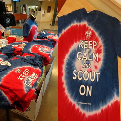 Keep Calm and Scout On! These shirts are going quick! Don't wait to stop by a CAC Scout Shop or purchase online.