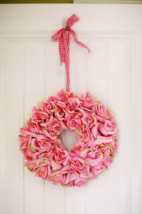 Gorgeous pink rose wreath