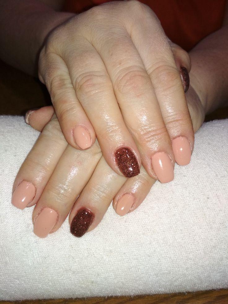 beige and brown gel and brown glitter gel