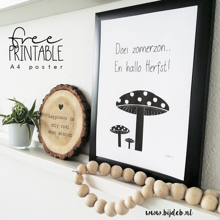 Free printable A4 Herfst poster www.bijdeb.nl