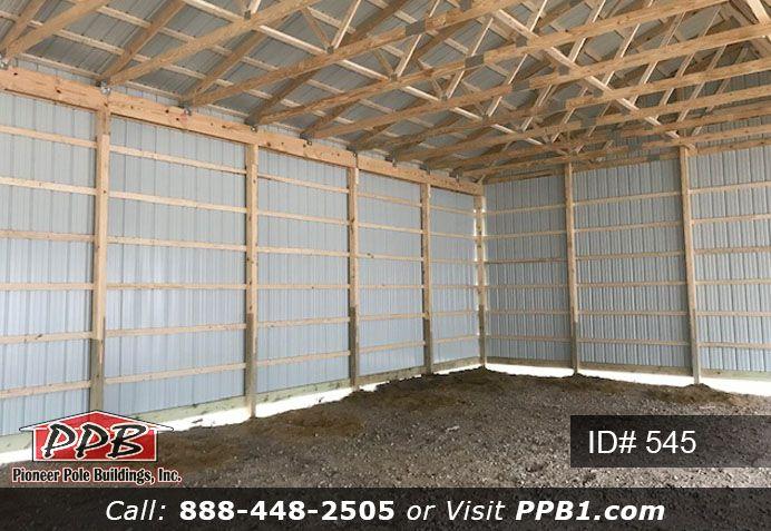 Inside A Pole Building Pole Buildings Gutters Garage Door Insulation