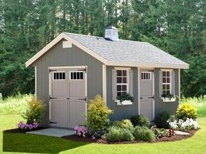 Amish Riverside Outdoor Shed Kit 10x16. Would love this shed instead of the ugly one I have!