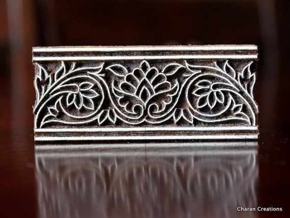 Vine deco    ....Etsy listing at https://www.etsy.com/listing/231709534/pottery-stamps-indian-wood-stamp-textile