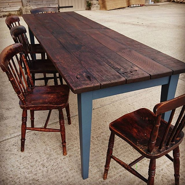 8ft x 3ft. Dinning Table made from reclaimed roofing joists. Retail £650. #rustictable #rusticdecor #timber #reclaimedfurniture #reclaimedtimber #woodworking #woodworking